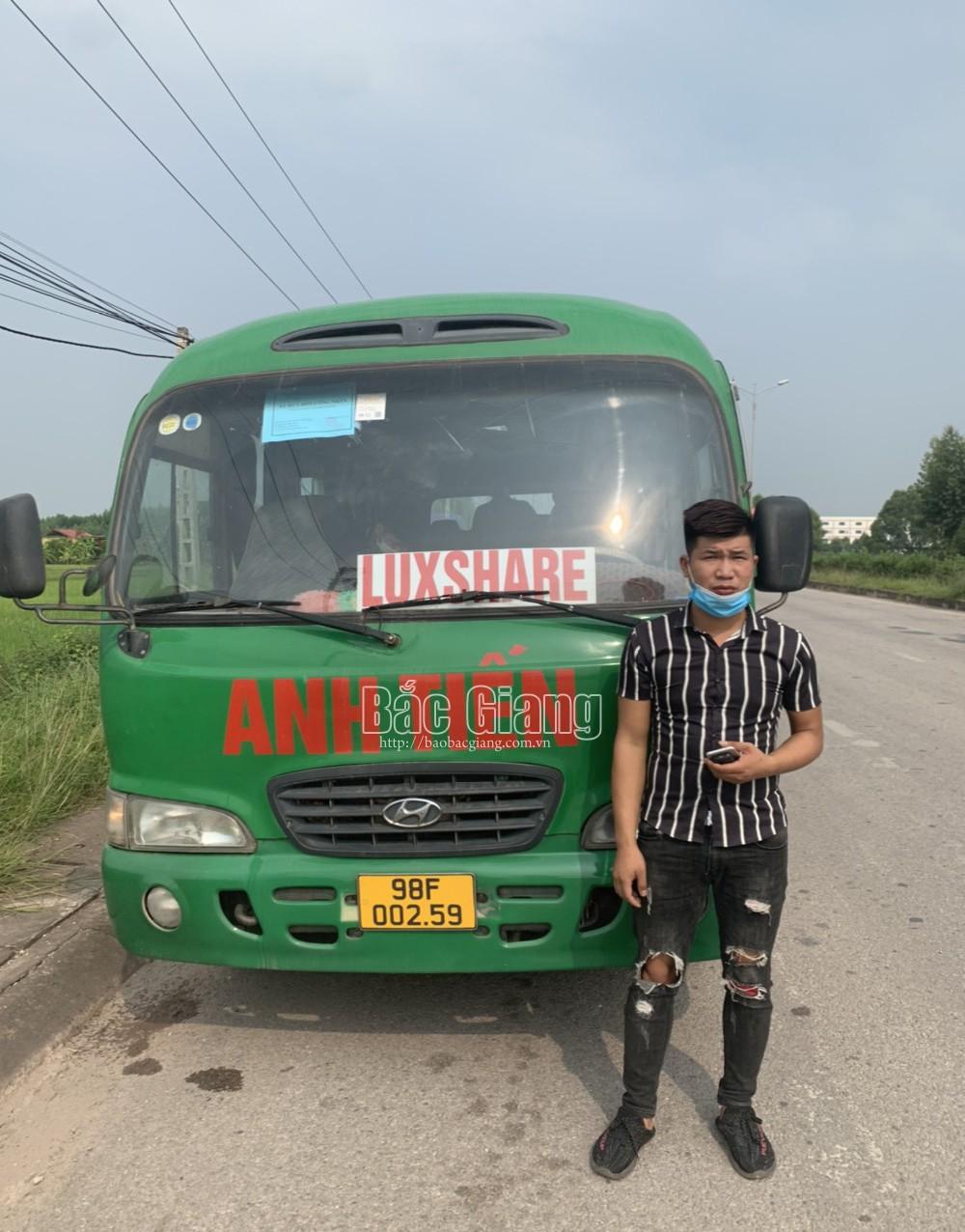 Bắc Giang, Công an Yên Dũng, Tài xế, giấy phép lái xe giả, sử dụng bằng lái giả, Xe chở công nhân