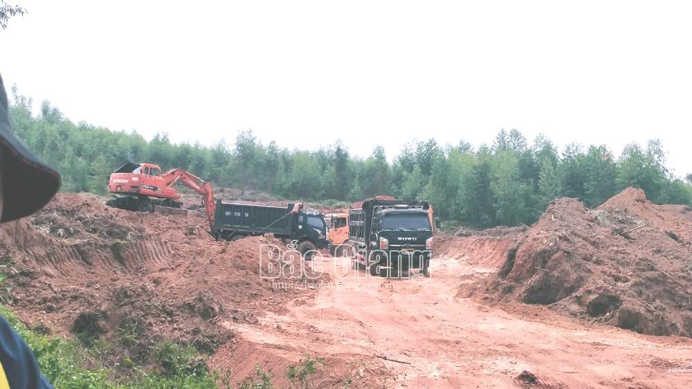 Bắc Giang: Ngang nhiên khai thác đất trái phép