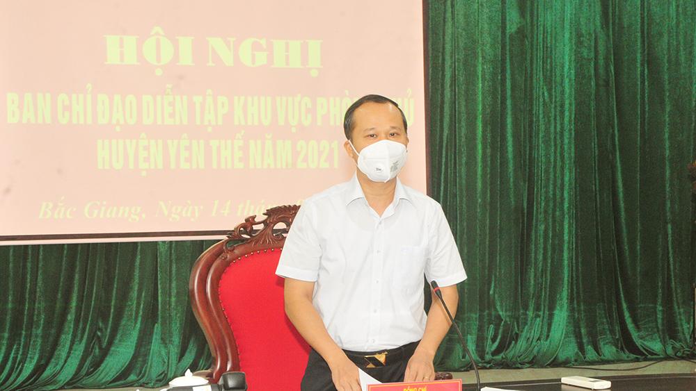 Chuẩn bị tốt nhất cho diễn tập khu vực phòng thủ huyện Yên Thế