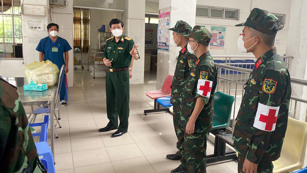 Bac Giang province, military doctors, leave for the South, Covid-19 pandemic, go on mission, treatment area, Covid-19  patients, Army Corps 2