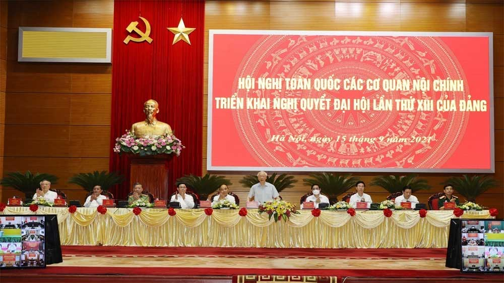 Các cơ quan nội chính toàn quốc triển khai Nghị quyết Đại hội lần thứ XIII của Đảng