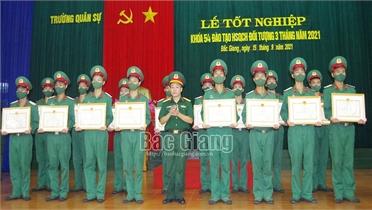 Gần 400 học viên tốt nghiệp lớp đào tạo hạ sĩ quan chỉ huy