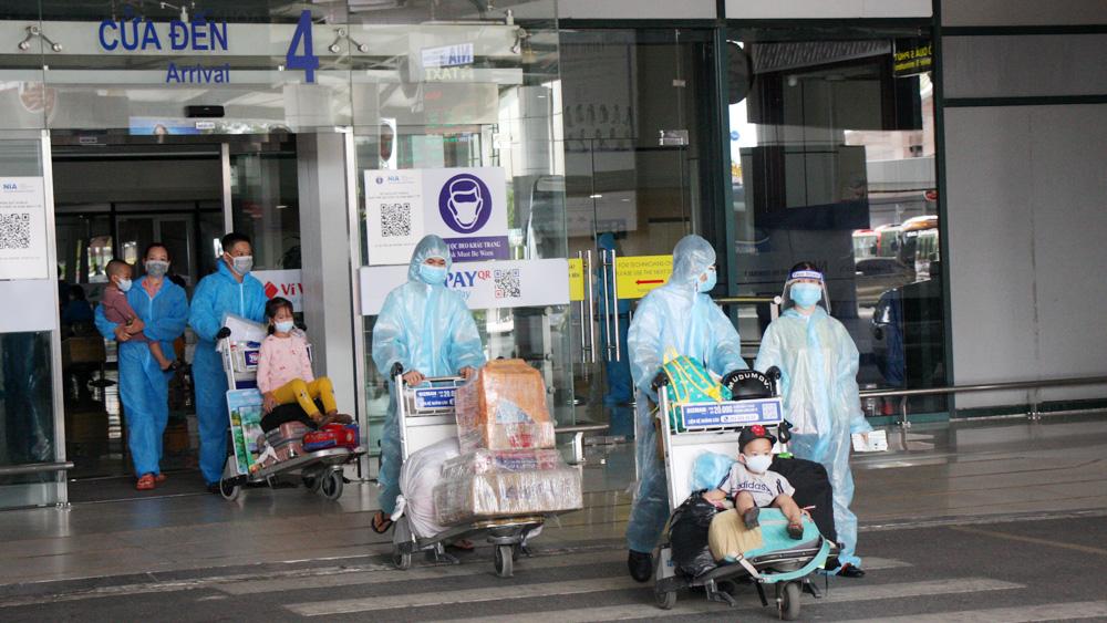 Bắc Giang, đón công dân, TP Hồ Chí Minh, Bình Dương, trở về, hội đồng hương.