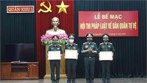 Bộ CHQS tỉnh Bắc Giang giành giải Nhất hội thi pháp luật dân quân tự vệ