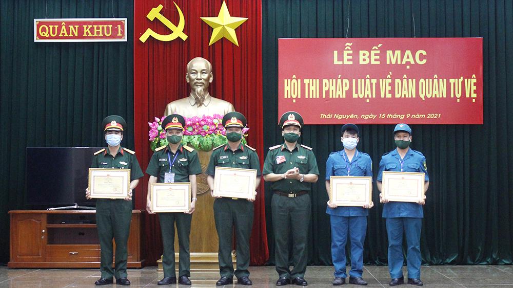 Bộ CHQS tỉnh Bắc Giang, giành giải Nhất, hội thi pháp luật dân quân tự vệ, Quân khu 1