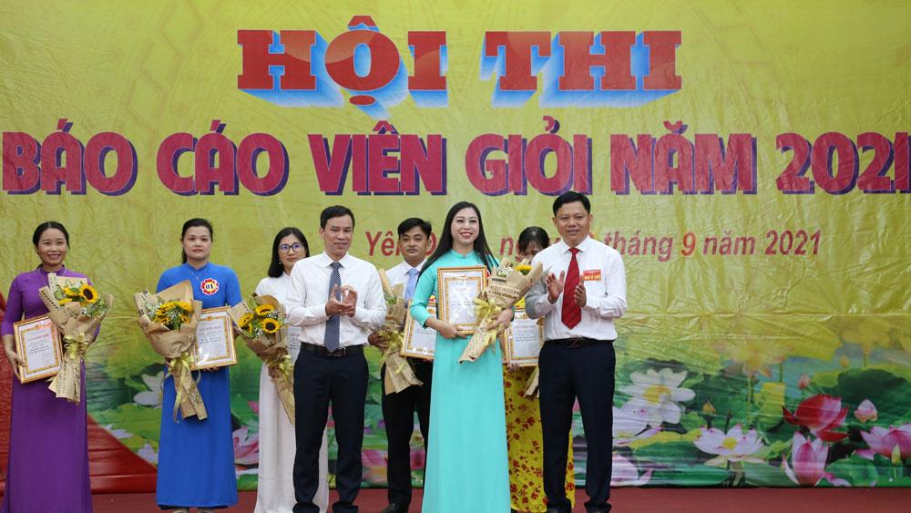 Yên Dũng, hội thi, báo cáo viên, Nguyễn Thi Thu Cúc