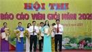 Thí sinh Nguyễn Thị Thu Cúc giành giải Nhất hội thi báo cáo viên giỏi huyện Yên Dũng