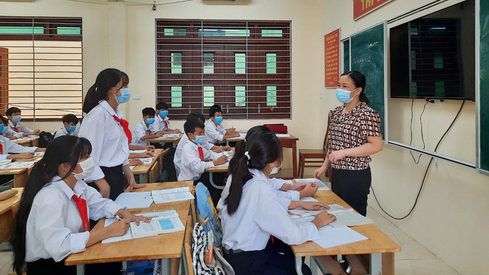 Dạy, học mùa Covid, Bắc Giang, giáo viên, học sinh, phòng dịch,