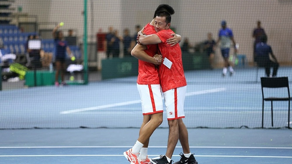 Vietnam, national tennis team, first Davis Cup win, claim victory, key player, Pacific Oceania