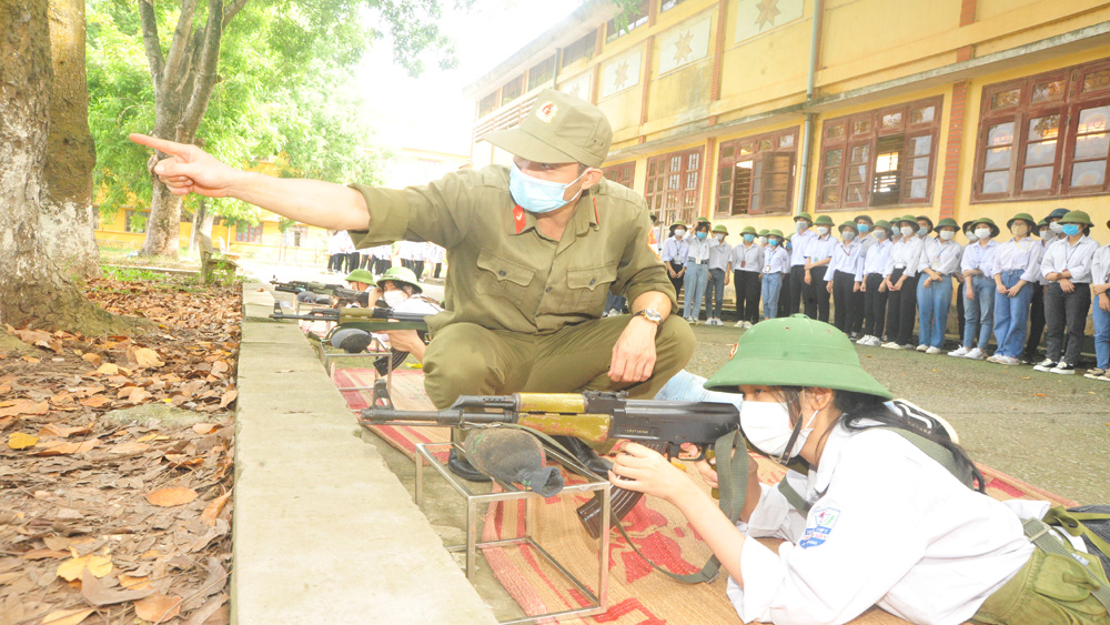 Bac Giang province, national defense-security education, reform, teaching content and methods, theory and practice