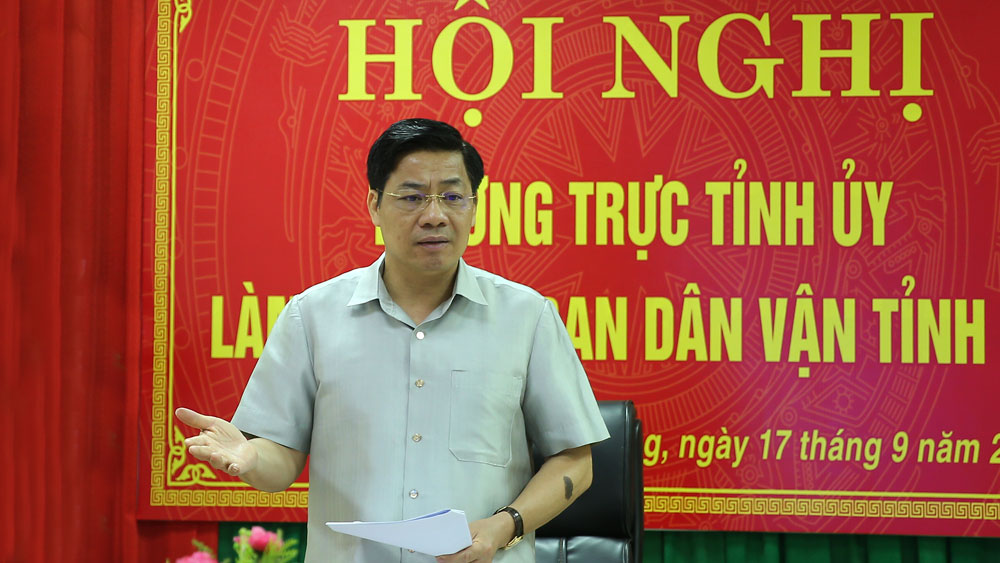Bắc Giang, Bí thư Dương Văn Thái, làm việc, Ban Dân vận Tỉnh ủy