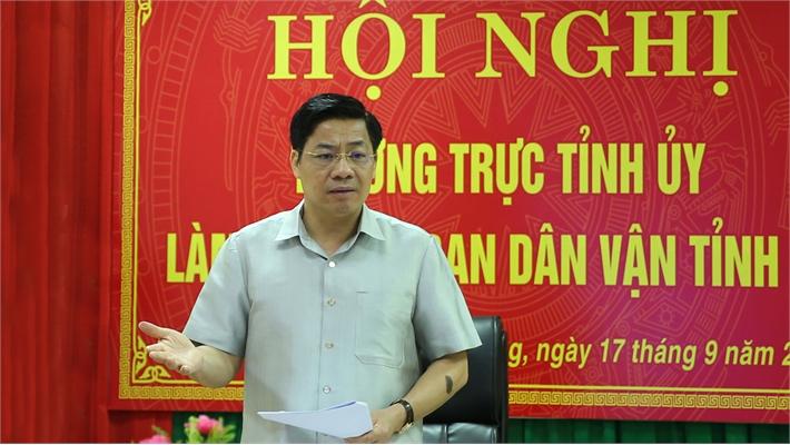 Bí thư Tỉnh ủy Dương Văn Thái: Tăng cường dân vận chính quyền, tích cực tham mưu giải quyết việc khó, nổi cộm