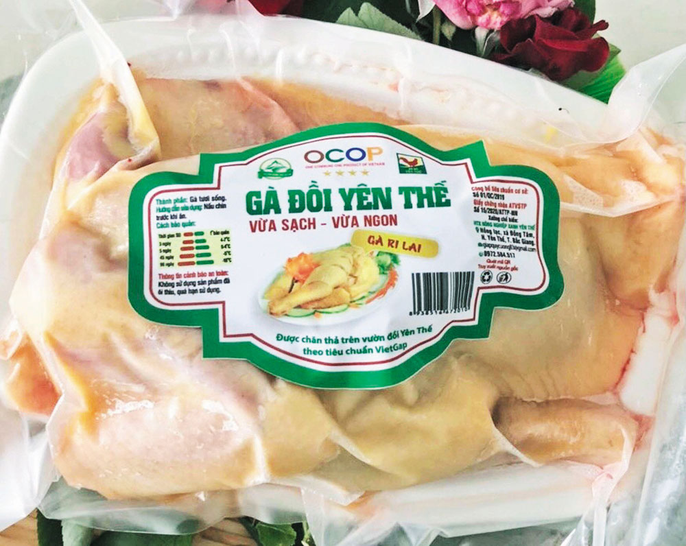 Yen The district, OCOP products, Bac Giang province, One Commune One Product,  agricultural products, protected brand, typical products