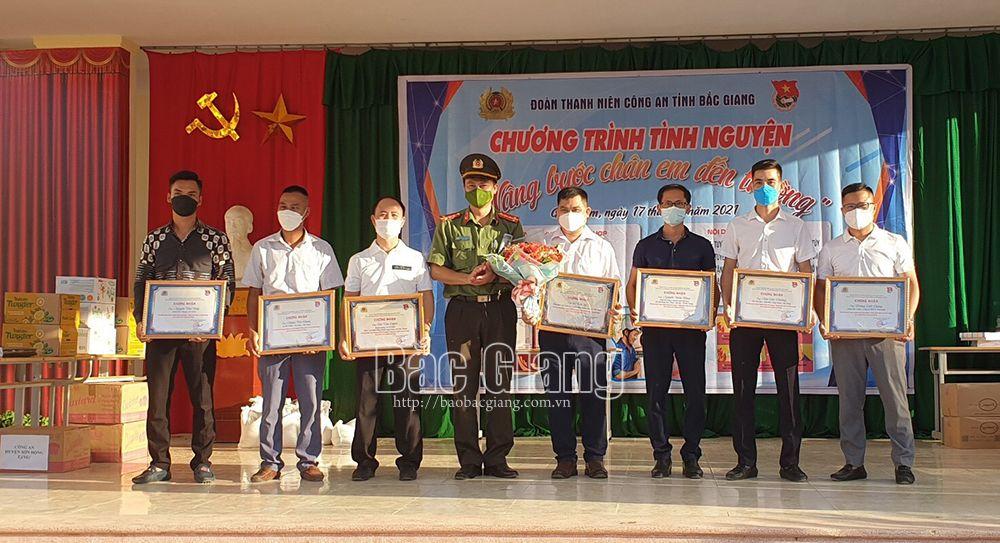 Bắc Giang, Công an Bắc Giang, Tuổi trẻ Công an Bắc Giang, trẻ em nghèo