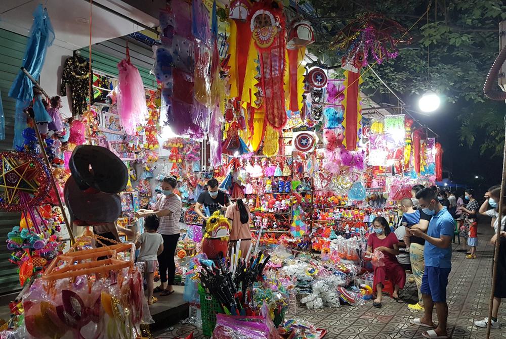 sức mua yếu, bắc giang, trung thu, đồ chơi, thị trường, rằm Tháng 8