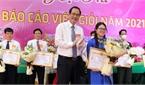 Thí sinh Trần Thị Thanh giành giải Nhất hội thi báo cáo viên huyện Việt Yên