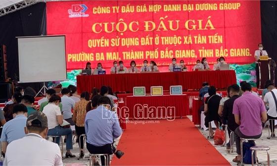 Bắc Giang: Đấu giá 79 lô đất ở, thu chênh lệch gần 110 tỷ đồng