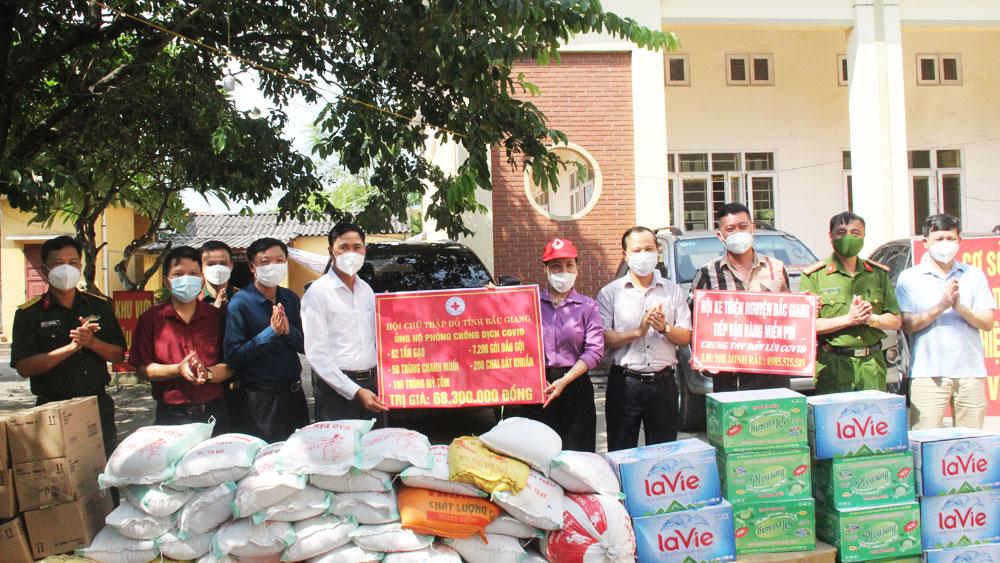 trao quà, hoàn cảnh đặc biệt khó khăn, khu cách ly, Bắc Giang