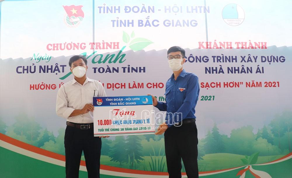 chủ nhật xanh, Tỉnh đoàn, Việt Yên, nhà nhân ái