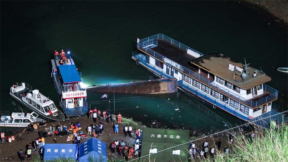Tàu thủy chở khách , bị lật ở miền Tây Nam Trung Quốc, thương vong