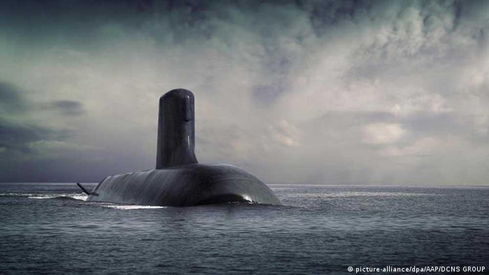 Lãnh đạo Pháp - Mỹ , sớm điện đàm, giải quyết căng thẳng, liên quan , hợp đồng, mua bán tàu ngầm