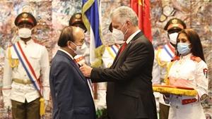 Chủ tịch nước Nguyễn Xuân Phúc hội đàm với Chủ tịch Cuba