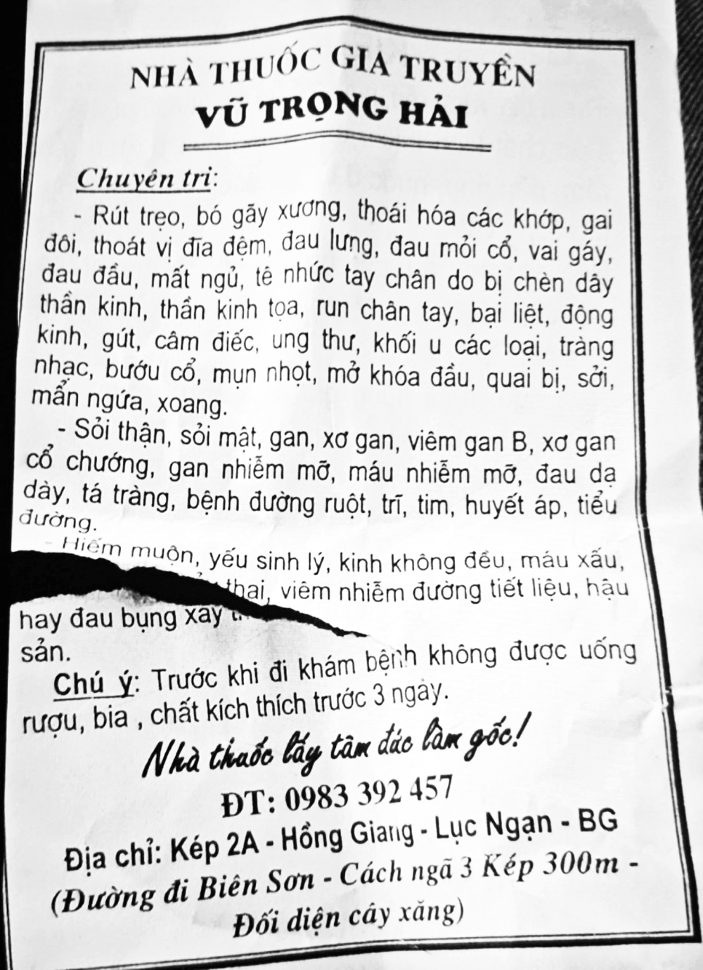 Một cách tuyên truyền chữa bệnh của ông Vũ Trọng Hải.