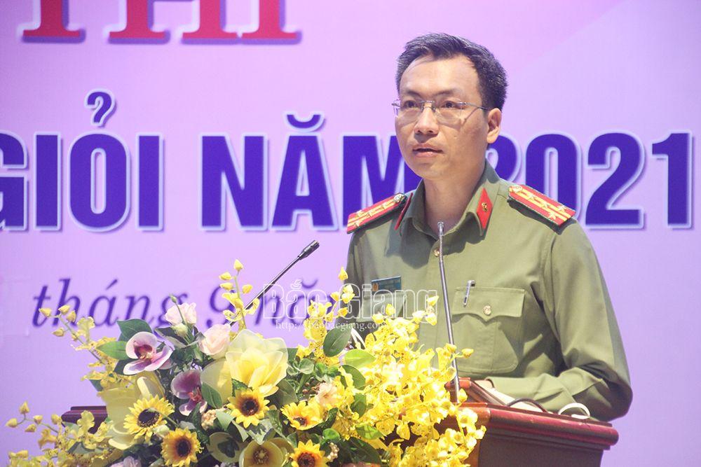 Bắc Giang, phòng, chống dịch Covid-19, hội thi báo cáo viên giỏi tỉnh Bắc Giang