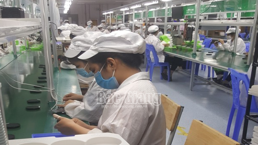Labours at Bac Giang's industrial parks sharply increase