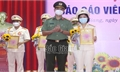 Thí sinh Bùi Thị Ánh Hồng giành giải Nhất Hội thi báo cáo viên giỏi Công an tỉnh