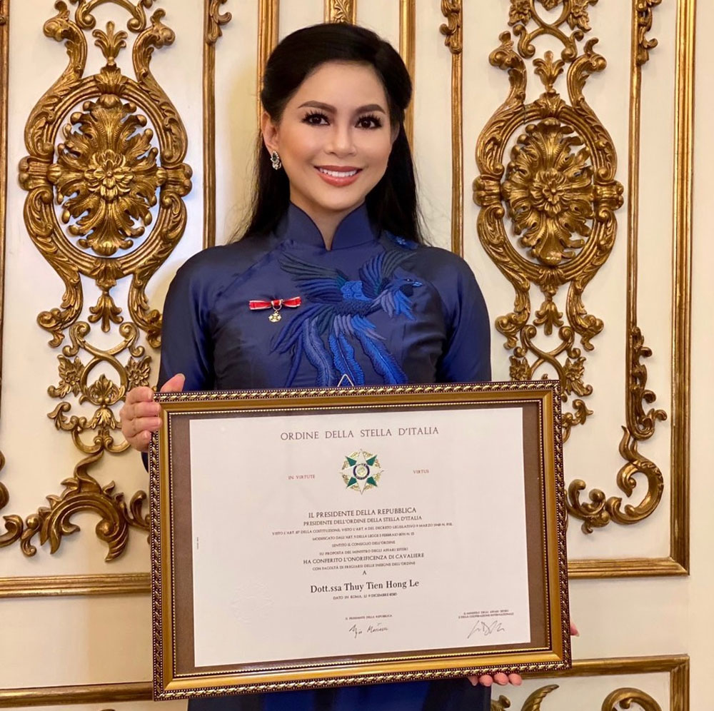 IPPG's CEO, Le Hong Thuy Tien, Knighthood, the Order of the Star,  Imex Pan Pacific Group, Italian president