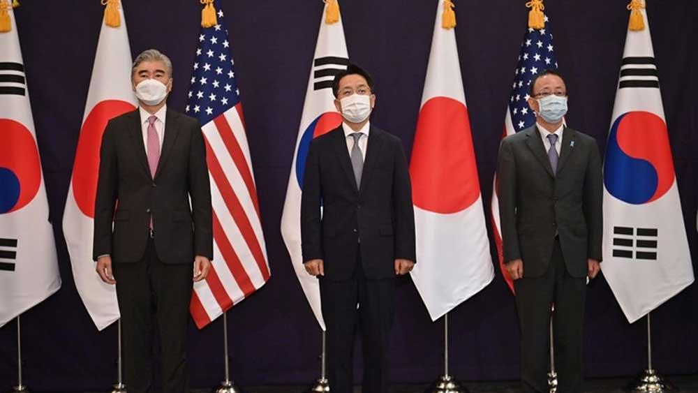 Mỹ-Nhật-Hàn, khẳng định , hợp tác , vấn đề Triều Tiên