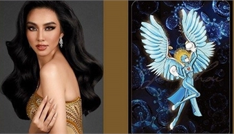 Vietnamese beauty selects national costume named 'Angel' at Miss Grand International contest