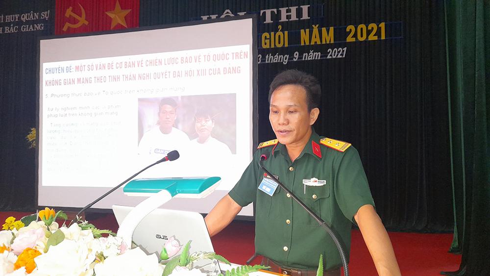 Bộ CHQS tỉnh Bắc Giang, trao 19 giải cho các báo cáo viên giỏi