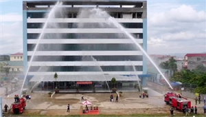 Diễn tập phương án chữa cháy, cứu nạn tại bệnh viện đa khoa tư nhân