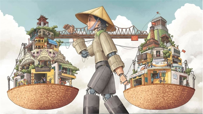 'Ha Noi rong' wins first prize at UNESCO's Hanoi illustration contest