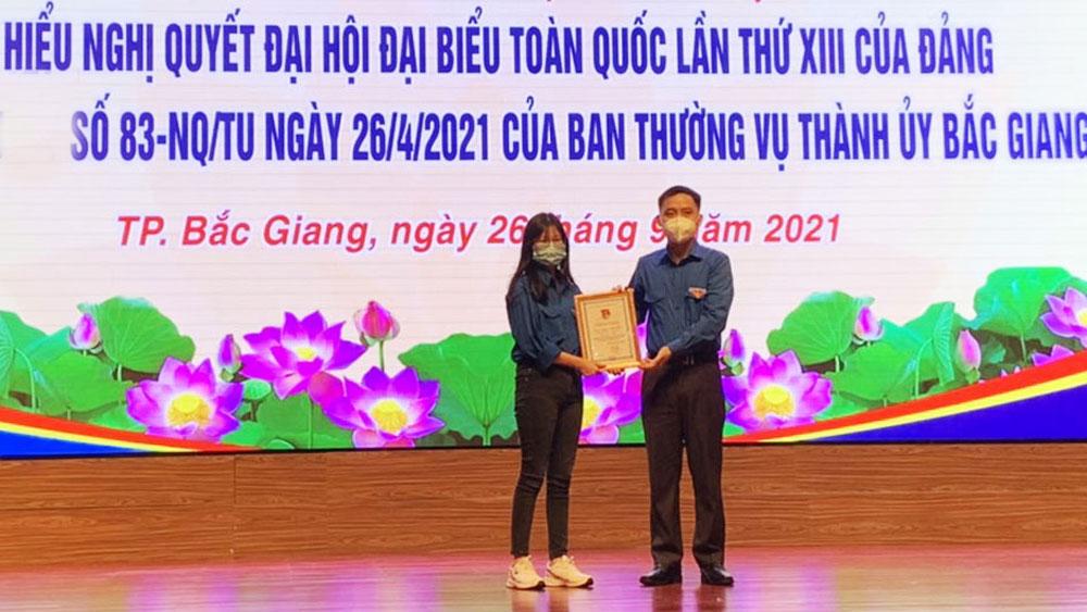 Thành đoàn Bắc Giang trao giải cuộc thi trực tuyến tìm hiểu các Nghị quyết của Đảng