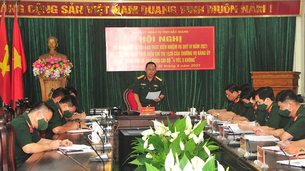 Đảng ủy Quân sự tỉnh Bắc Giang nâng cao chất lượng sinh hoạt đảng