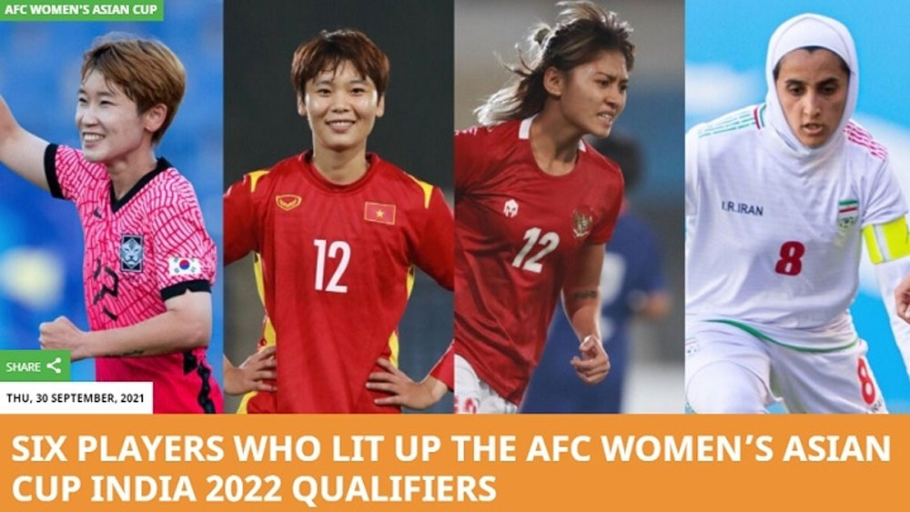 Vietnam forward Pham Hai Yen among AFC's top six performers in 2022 Women's Asian Cup Qualifiers