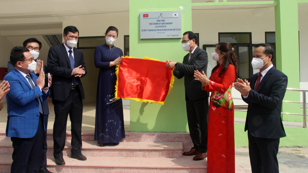 "Samsung's ""Hope School"" inaugurated in Bac Giang"