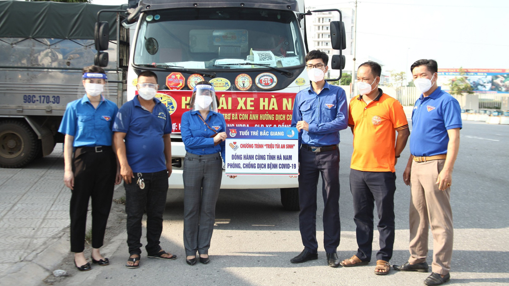 Bac Giang donates six tonnes of necessities and supplies to Covid-19 fight in Ha Nam