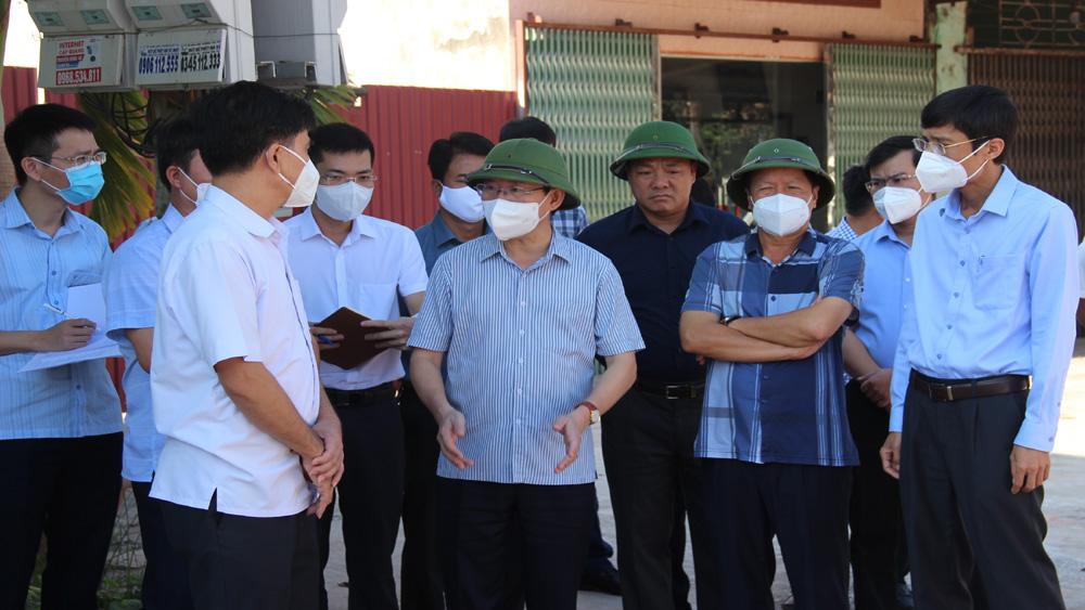 Chủ tịch, UBND tỉnh, Lê Ánh Dương, Huyện Tân Yên, Yên Thế, khẩn trương, bàn giao mặt bằng, đẩy nhanh, thi công, các công trình trọng điểm