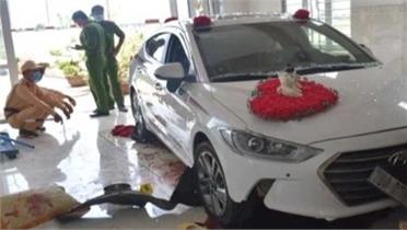 Nữ tài xế gây tai nạn khi đi rửa xe