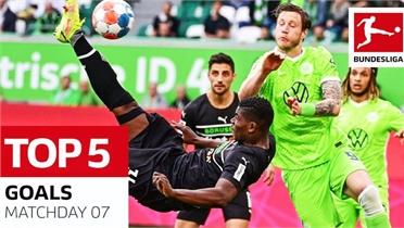 Top 5 bàn thắng đẹp vòng 7 giải Bundesliga