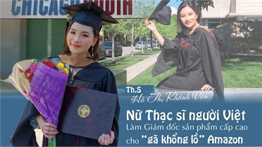 Nữ thạc sĩ người Việt làm giám đốc sản phẩm cấp cao của Amazon