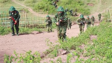 Sư đoàn 306 diễn tập bắn đạn thật cho lực lượng dự bị động viên