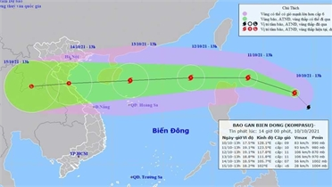 Bão Kompasu sắp vào Biển Đông, dự báo rất mạnh