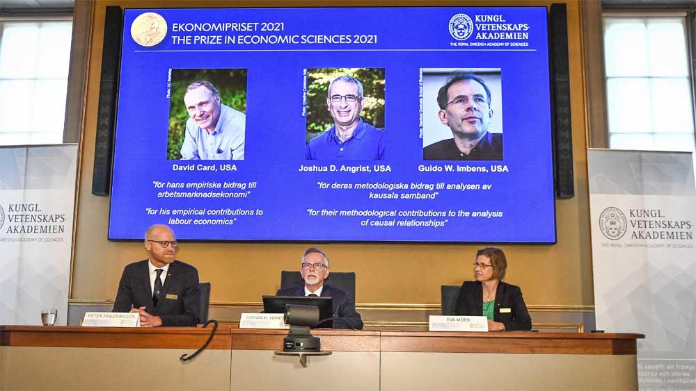 Ba nhà kinh tế Mỹ, đoạt giải, Nobel Kinh tế 2021