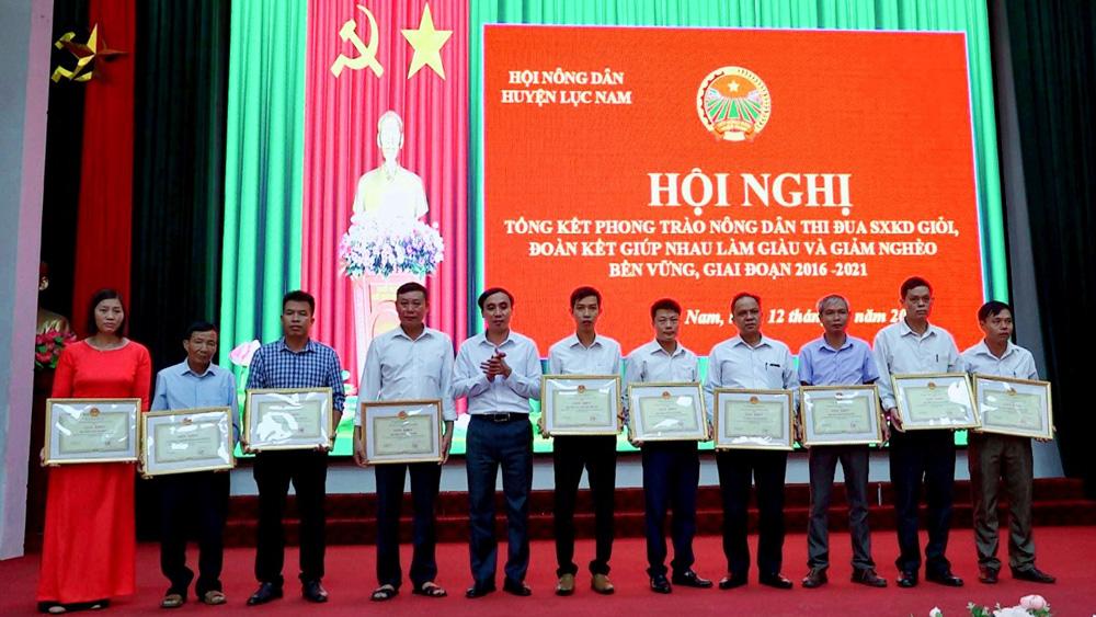 Lục Nam, nông dân, danh hiệu, sản xuất, kinh doanh giỏi, Bắc Giang, Hội nông dân