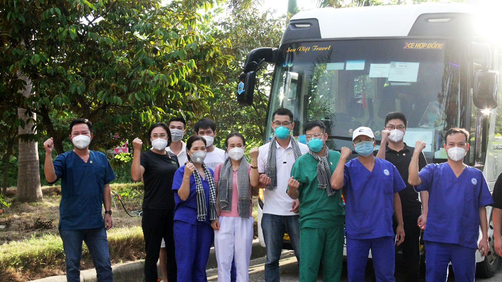 Đoàn công tác Bắc Giang hoàn thành hỗ trợ TP Hồ Chí Minh và tỉnh Bình Dương chống dịch